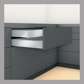 Inner Drawer M Height in Stainless Steel - TIP-ON BLUMOTION