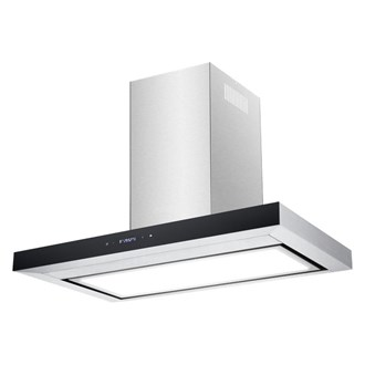 Premium Stainless Steel Flat Canopy Rangehood with LED Light Panel- 900mm