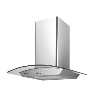 Stainless Steel Curved Glass Canopy Rangehood - 600mm