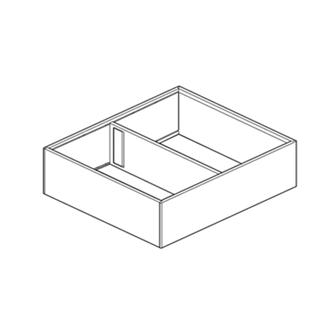 AMBIA-LINE frame for LEGRABOX high fronted pull-out 270mm