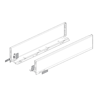 LEGRABOX drawer side for LEGRABOX pure M Height