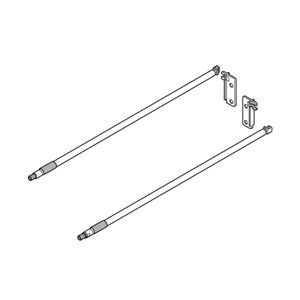 METABOX longside gallery rail  - Cream - (Includes two rods and back fixing brackets)