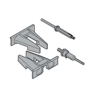 TIP-ON locking device and adapter nylon/steel