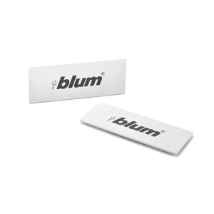 TANDEMBOX cover cap rectangular symmetrical indented (blum) - Silk White