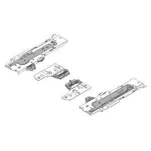 TIP-ON BLUMOTION set (Unit + latch + Adapter) for TANDEMBOX