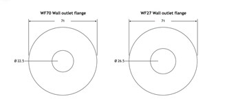 Wall Outlet Flange