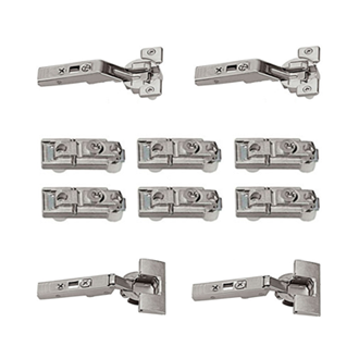 CLIP top centre hinge (Pack/Set) for AVENTOS bi-fold lift systems 134° unsprung boss: knock-in