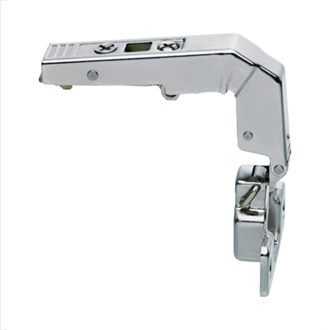 CLIP top blind corner hinge 95 Degree inset unsprung boss: screw-on