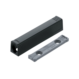 TIP-ON adapter plate for doors straight (20/32 mm)