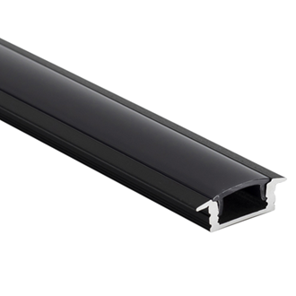 LED Al Pro Shallow Recessed Black with Black Cover 3m