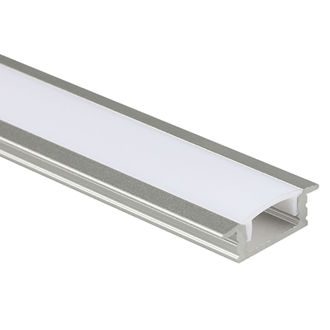 LED Al Pro Shallow Recessed Silver with Frosted Cover