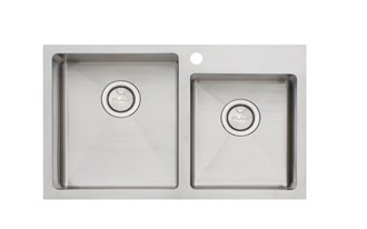 Oliveri Apollo 1 & 3/4 Offset Bowl Sink