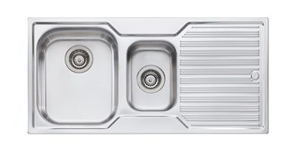 Oliveri Diaz 1 & 1/2 Bowl Topmount Sink With Drainer