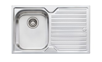 Oliveri Diaz Single Bowl Topmount Sink With Drainer