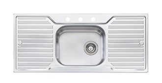 Oliveri Diaz Single Bowl Topmount Sink With Double Drainer