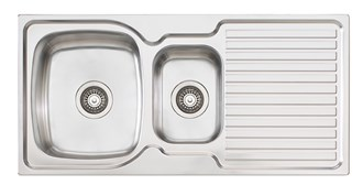 Oliveri Endeavour 1 & 1/2 980mm Bowl Topmount Sink With Drainer