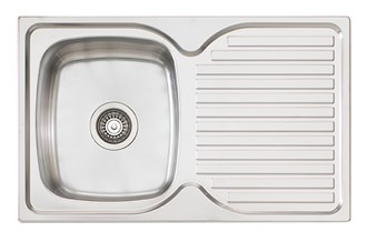 Oliveri Endeavour Single 770mm Bowl Topmount Sink With Drainer