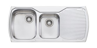Oliveri Monet 1 & 3/4 Bowl Topmount Sink With Drainer