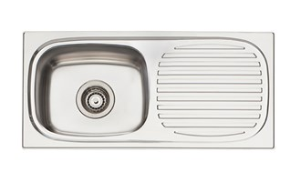 Oliveri Martini Single Bowl Topmount Sink With Drainer