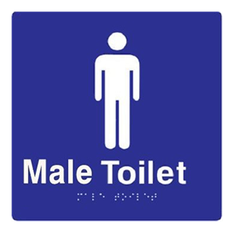 Large Male Toilet 180mm x 180mm