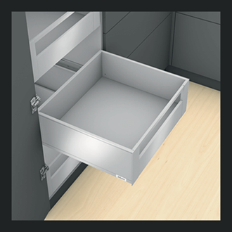 Blum LEGRABOX pure Inner Drawer C Height GALLERY RAIL 177MM drawer 600MM Integrated BLUMOTION in Terra Black 70KG