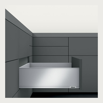 Blum LEGRABOX pure High Fronted C Height 177MM drawer 450MM TIP-ON BLUMOTION in Silk White 40KG for drawer weight 15-40kg