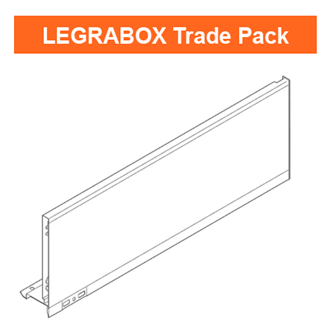 Blum LEGRABOX Side Trade Pack Silk White C Height 500mm - Quantity: 10 sides