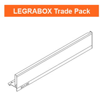 Blum LEGRABOX Side Trade Pack Silk White M Height 500mm - Quantity: 20 sides